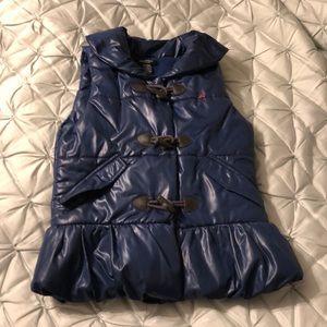 Nautica fleece lined toggle puffer vest size 8
